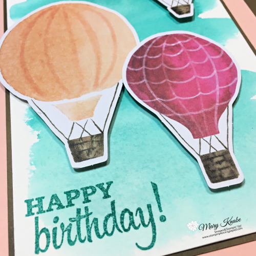 Watercolor Wash background with Looking Up All Inclusive Card Kit by Stampin' Up!