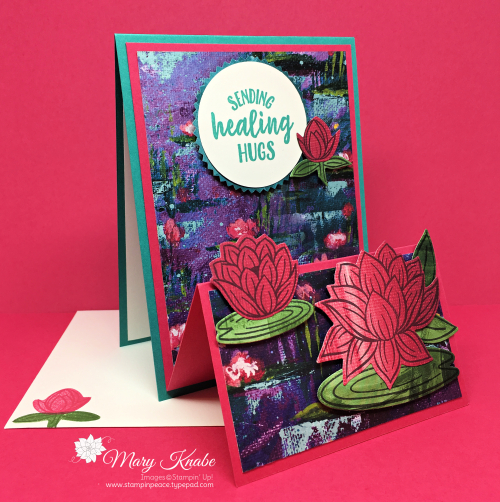 Lovely Lily Pad Stamp Set, Lily Pad Dies, Lily Impressions Designer Series Paper, and So Sentimental Stamp Set by Stampin' Up!