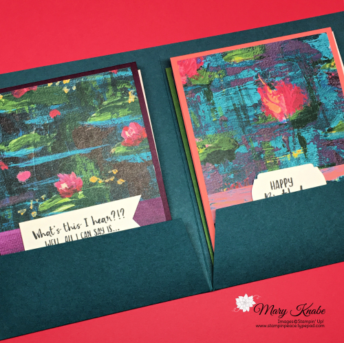 Lovely Lily Pad Stamp Set, Lily Pad Dies, and Lily Impressions Designer Series Paper by Stampin' Up!