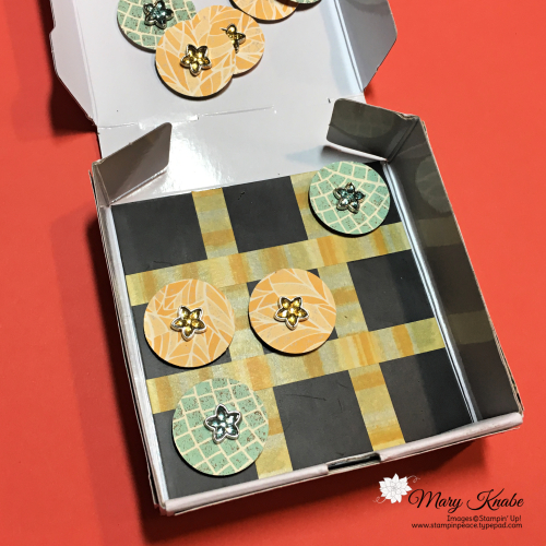 Mosaic Mood Specialty Designer Series Paper, Flower Faceted Gems, Follow Your Art Washi Tape, & Mini Pizza Box by Stampin' Up!