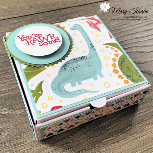 Dino Days Stamp Set, Dinoroar Designer Series Paper, Mini Pizza Box by Stampin' Up!