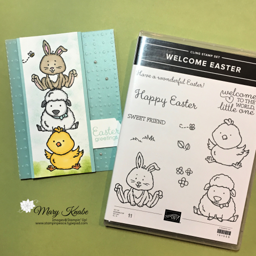 Welcome Easter Stamp Set & So Very Vellum Specialty Designer Series Paper by Stampin' Up!