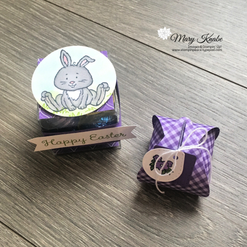"Welcome Easter Stamp Set, Brights 6"" x 6"" Designer Series Paper, Mini Curvy Keepsake Box Die, Clear Tiny Treat Boxes by Stampin' Up!"