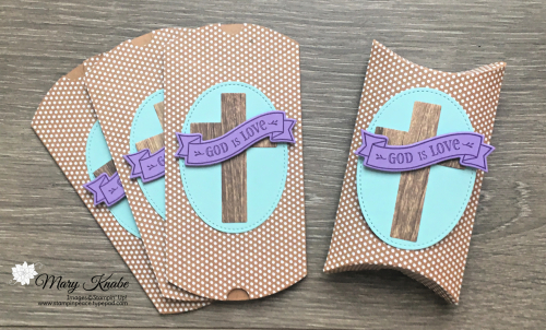 Hold on to Hope Stamp Set, Cross of Hope Dies, Kraft Pillow Boxes by Stampin' Up!