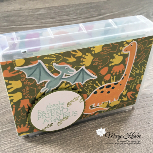 Dino Days Stamp Set, Dino Dies, Dinoroar Designer Series Paper, Half Wide Stamp Cases by Stampin' Up!