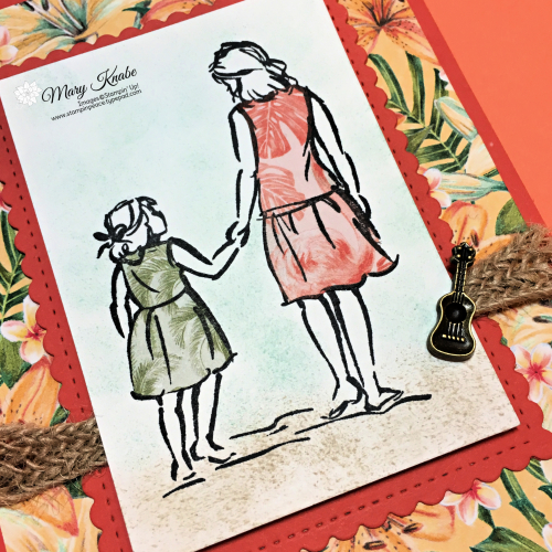 Paper Piecing with Beautiful Moments Stamp Set & Tropical Oasis Designer Series Paper by Stampin' Up!