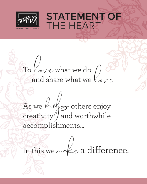 Stampin' Up! Statement of the Heart