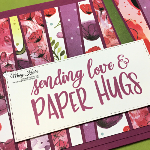 Peaceful Poppies Designer Series Paper by Stampin' Up!