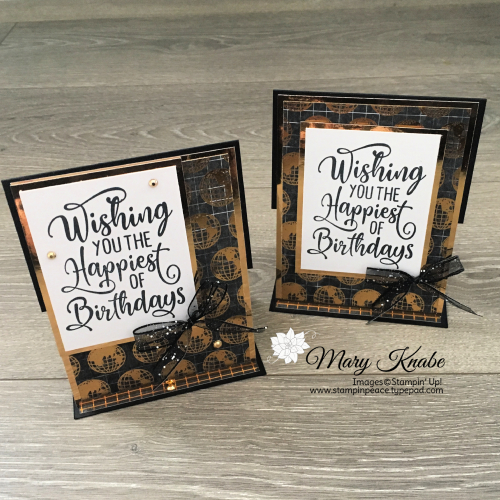 Happiest of Birthday Stamp Set & World of Good Specialty Designer Series Paper by Stampin' Up!