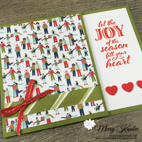 Trimming the Town Designer Series Paper & Wrapped in Christmas Stamp Set by Stampin' Up!