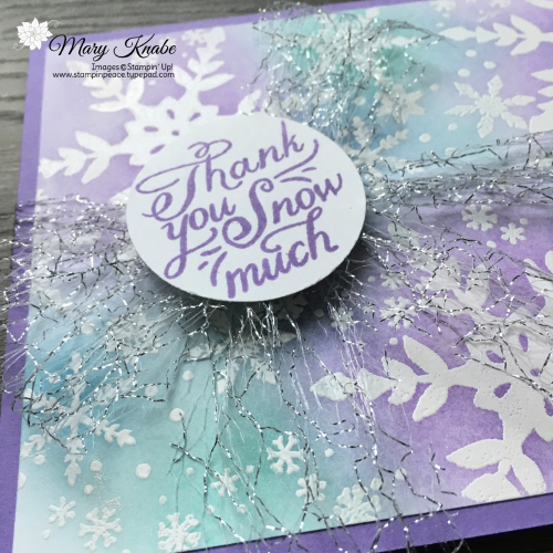 Emboss Resist Technique with Snowflake Wishes Stamp Set & Blending Brushes by Stampin' Up!