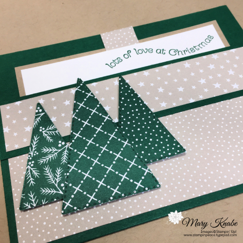 Itty Bitty Christmas Stamp Set, Triangle Dies & Classic Christmas Designer Series Paper by Stampin' Up!