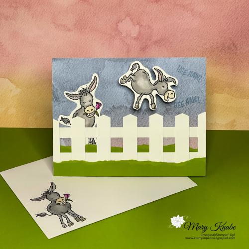 Darling Donkeys Stamp Set with Sand & Sea Designer Series Paper by Stampin' Up!