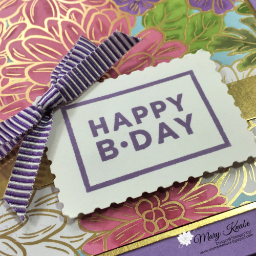 Ornate Garden Specialty Designer Series Paper, Happiest of Birthdays Stamp Set, Rectangular Postage Stamp Punch, & Lovely Labels Pick A Punch by Stampin' Up!