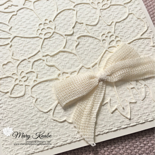Many Layered Blossoms Dies & Tasteful Textile Embossing Folder by Stampin' Up!