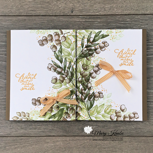Split Card Technique with Forever Fern Stamp Set by Stampin' Up!