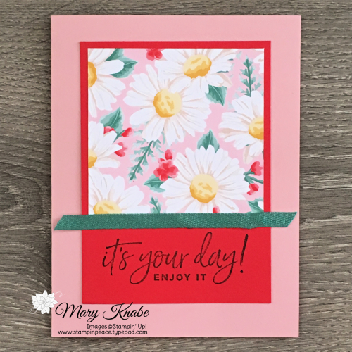 "Flowers for Every Season 6"" x 6"" Designer Series Paper One Sheet Wonder & Happiest of Birthdays Stamp Set by Stampin' Up!"