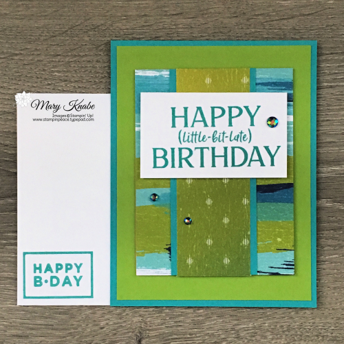 Happiest of Birthdays Stamp Set and Artistry Blooms Designer Series Paper by Stampin' Up!
