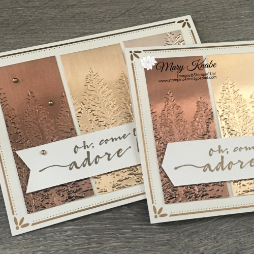 For Unto Us Stamp Set, Evergreen Forest 3-D Embossing Folder, & Brushed Metallic Paper by Stampin' Up!