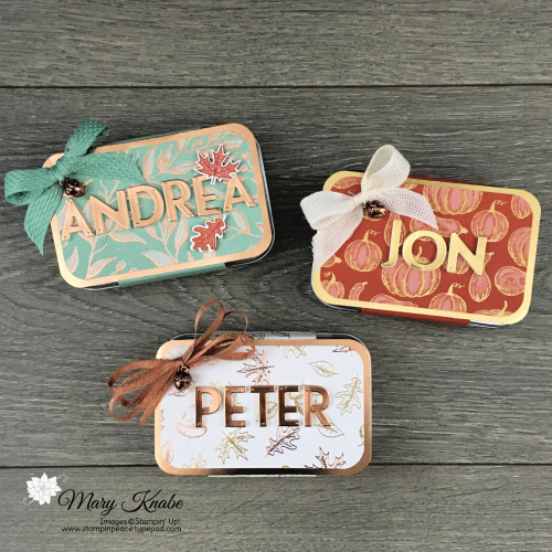 Beautiful Autumn Stamp Set, Gilded Autumn Designer Series Paper, & Playful Alphabet Dies by Stampin' Up!