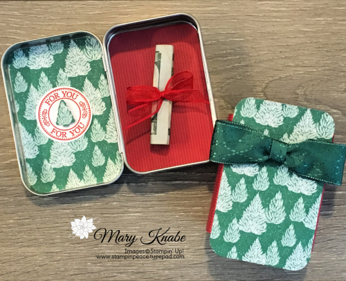 "Rectangle Tins, ""Tis the Season Designer Series Paper, Wonder of the Season Ribbon by Stampin' Up!"