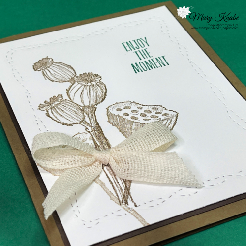 Enjoy the Moments Stamp Set & Stitched with Whimsy Dies by Stampin' Up!