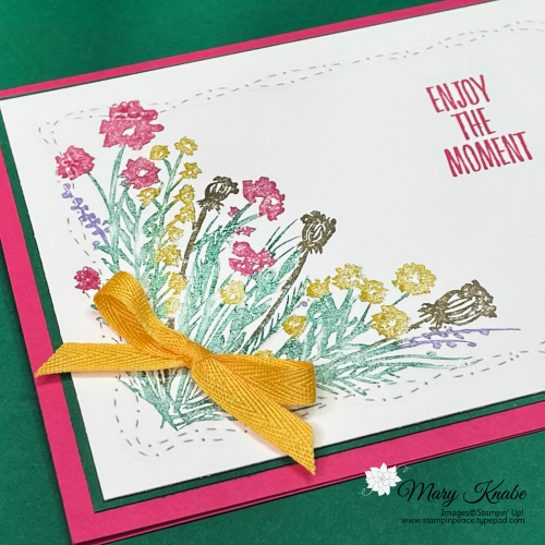 Corner Bouquet & Enjoy the Moments Stamp Sets with Stitched with Whimsy Dies by Stampin' Up!