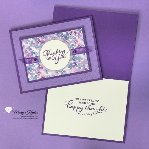 Hydrangea Hill Suite & Happy Thoughts Stamp Set by Stampin' Up!