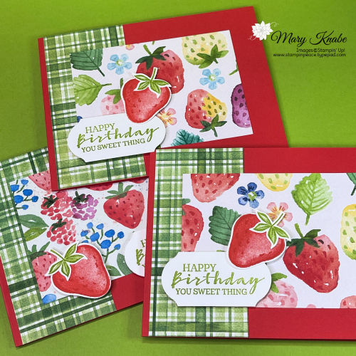 Sweet Strawberry Stamp Set & Berry Delightful Designer Series Paper by Stampin' Up!