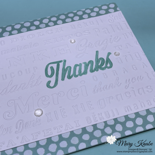 Thanks & Hello Embossing Folder & Pattern Play DSP by Stampin' Up!