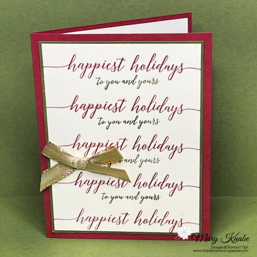 Stampin' Up! Heartfelt Wishes Card by Mary Knabe (5)