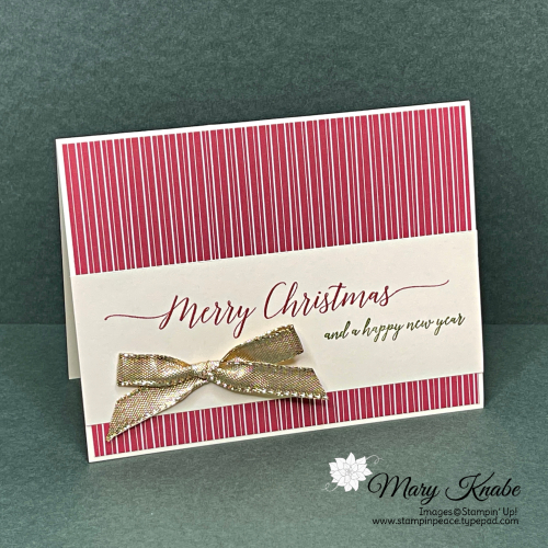 Stampin' Up! Heartfelt Wishes Card by Mary Knabe