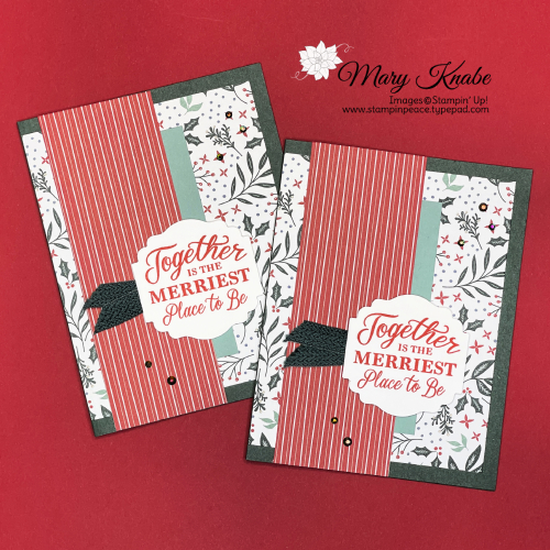 Stampin' Up! Merriest Moments Stamp Set & Tidings of Christmas Designer Series Paper - Mary Knabe