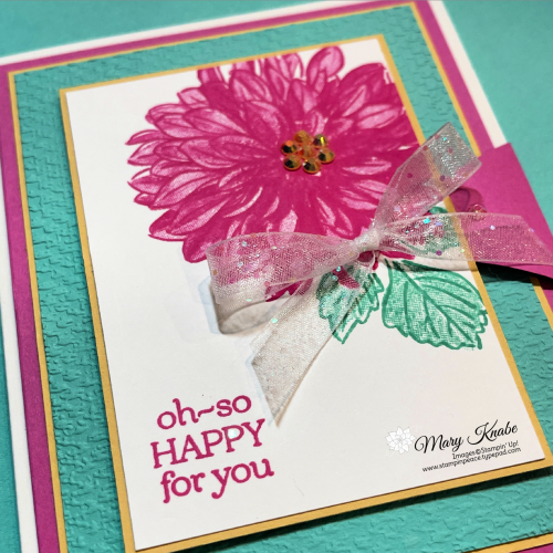 Stampin' Up! Delicate Dahlias - Mary Knabe