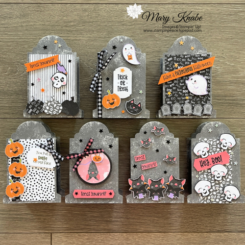 Cutest Halloween Suite with Tombstone Treat Boxes by Stampin' Up!
