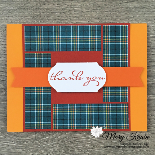 "Borders Abound Stamp Set & Plaid Tidings 6"" x 6"" Designer Series Paper by Stampin' Up!"