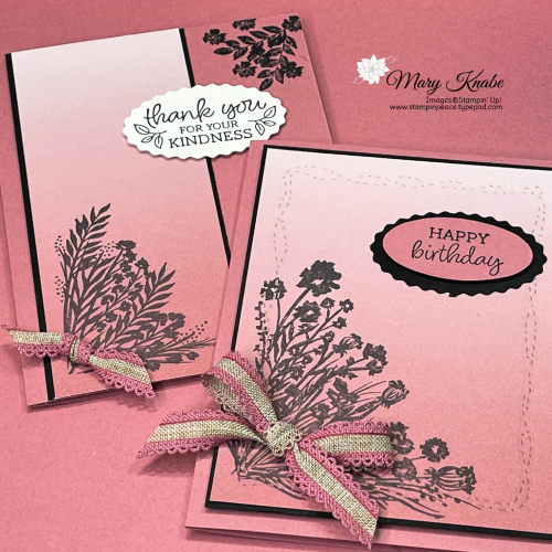Corner Bouquet Stamp Set & Oh So Ombre DSP by Stampin' Up!