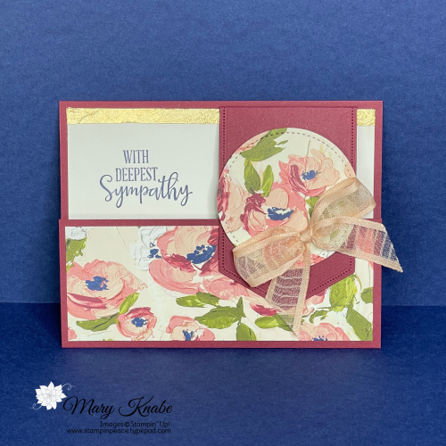 Peaceful Moments Stamp Set & Fine Art Floral Designer Series Paper by Stampin' Up!