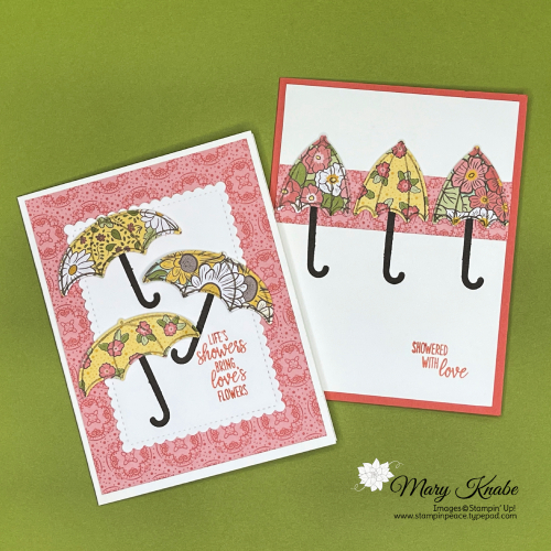 Under My Umbrella Stamp Set, Umbrella Builder Punch, & Ornate Garden DSP by Stampin' Up!