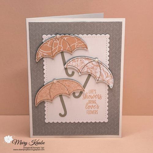 Under My Umbrella Stamp Set, Umbrella Builder Punch, & Peony Garden DSP by Stampin' Up!