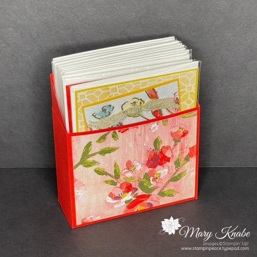 Card Holder - Poppy Parade Card Stock & Fine Art Floral Designer Series Paper by Stampin' Up!