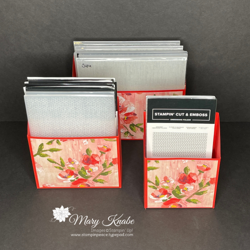 Embossing Folder Storage - Fine Art Floral Designer Series Paper by Stampin' Up!