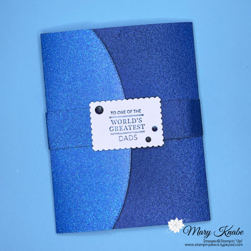 Handsomely Suited Stamp Set, Basic Borders Dies  & Ombre Specialty Paper by Stampin' Up!