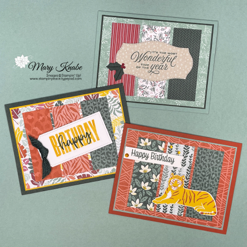 Tidings of Christmas Suite & In The Wild Suite by Stampin' Up!