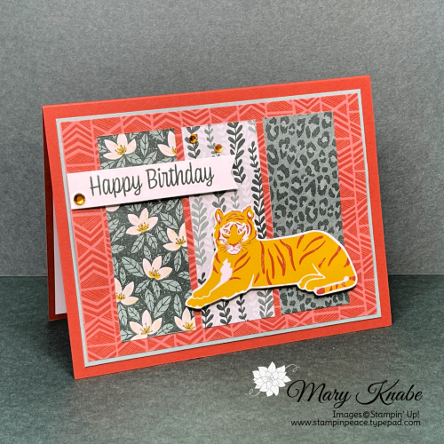 In The Wild Designer Series Paper by Stampin' Up!