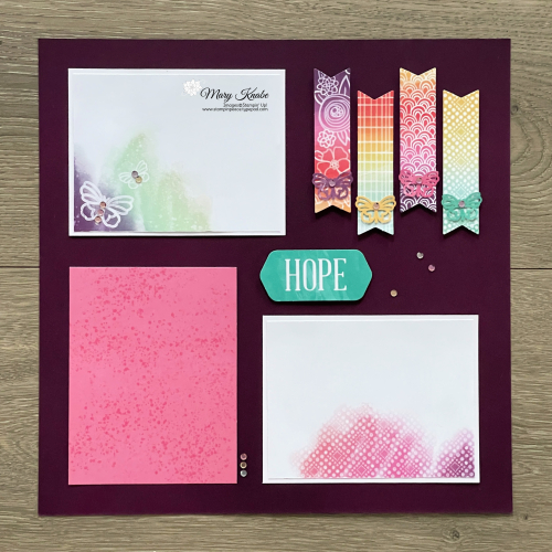 Paper Pumpkin Hope Box Scrapbook Pages - Mary Knabe (2)
