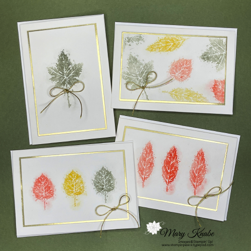 Stampin' Up! Gorgeous Leaves - Mary Knabes
