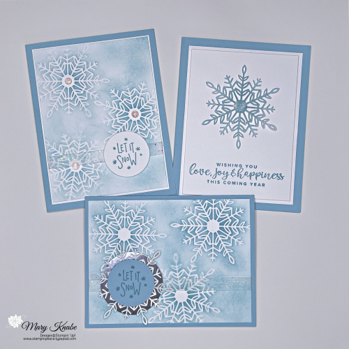 Stampin' Up! Encircled in Warmth with Wonderful Snowflakes - Mary Knabe