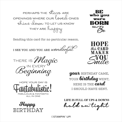 In Your Words Sale-A-Bration Stamp Set
