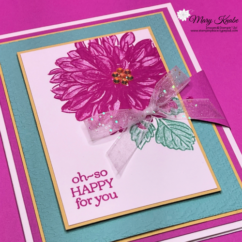 Stampin' Up! Delicate Dahlias - Mary Knabe (3)